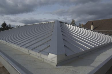 41 Dach gedeckt in Blech