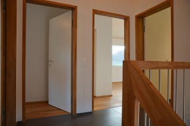 Aussentür mit Holzrahmen - Holzbau - Holzhaus - Holzsystembau - PM Mangold