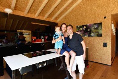 Holzbau - Einfamilienhaus im Holzsystembau