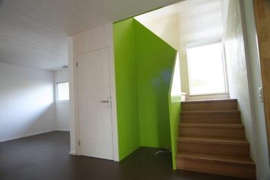 grüne Holzausstattung - Holzbau - Holzhaus - Holzsystembau - PM Mangold