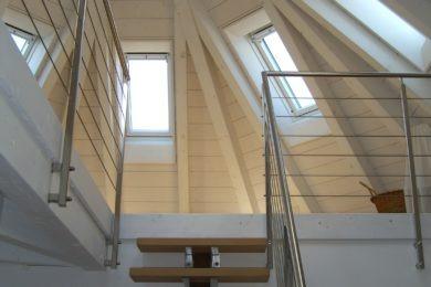 rofi-Dachfensterfutter mit Holzkuppel - Holzbau - Holzhaus - Holzsystembau - PM Mangold