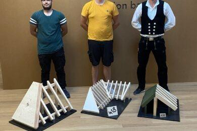 4. Lehrjahr: Chairo Kaufmann, Janic Lindenmann & Marlon Weber