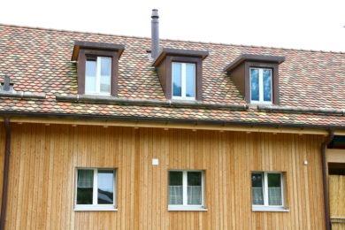 Holzbalkenwand - Holzbau - Holzhaus - Holzsystembau - PM Mangold