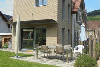 schmales Holzhaus - Holzbau - Holzhaus - Holzsystembau - PM Mangold