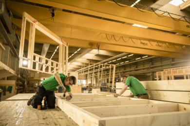 Holzbalken am Bauen- Holzbau - Holzhaus - Holzsystembau - PM Mangold
