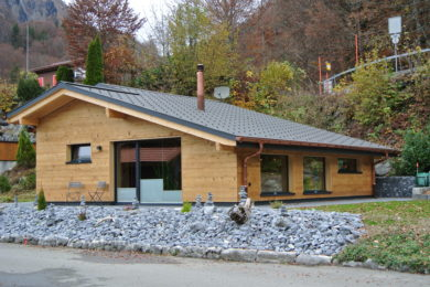neu bautes Holzhaus - Holzbau - Holzhaus - Holzsystembau - PM Mangold