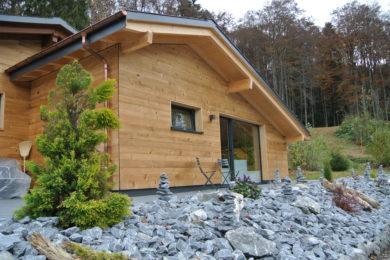 Holzhaus in der Natur nachher - Holzbau - Holzhaus - Holzsystembau - PM Mangold