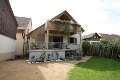 Aussenbalken aus Holz - Holzbau - Holzhaus - Holzsystembau - PM Mangold