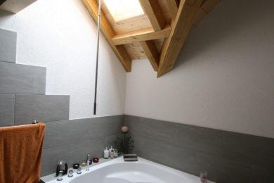 Bad mit Holzecke - Holzbau - Holzhaus - Holzsystembau - PM Mangold