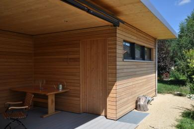 Holzaussenterasse - Holzbau - Holzhaus - Holzsystembau - PM Mangold