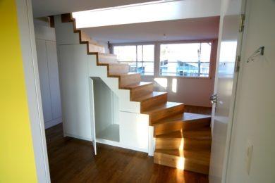 Spezialtreppe aus Holz - Holzbau - Holzhaus - Holzsystembau - PM Mangold